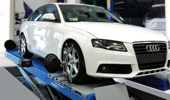 A wheel alignment service